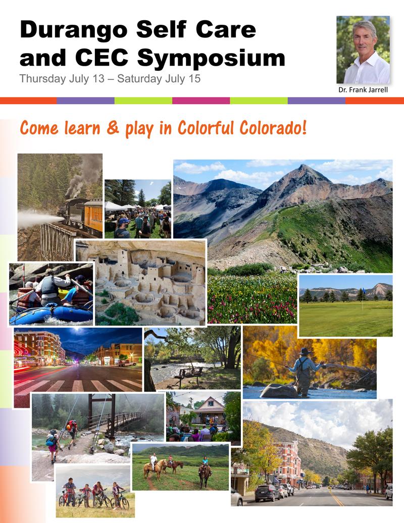 Dr. Frank Jarrell's Durango Colorado Symposium