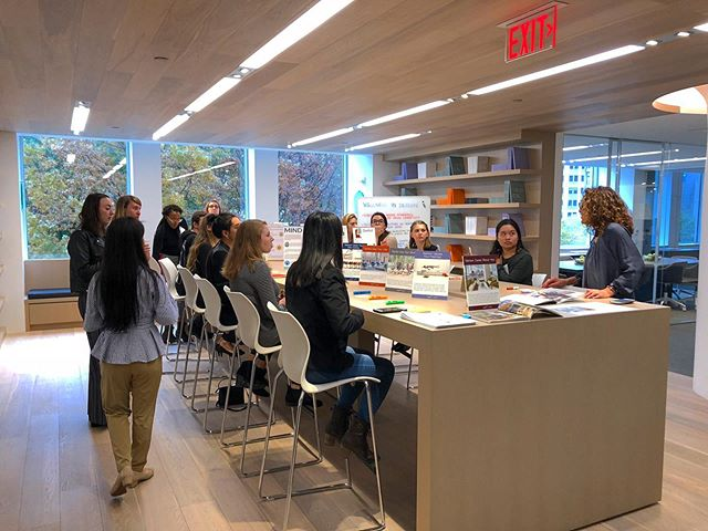 It's officially Back to School season! 🍎  As you get settled back into your classes and studios, don't forget to keep Interior Design Career Day on your calendars: October 25, 2019. Registration will be open soon!  Here's a flashback to one of last year's tours to the @teknionboston showroom. Stay tuned for updates on this year's theme and event details.  @iidane @asid_newengland @ifda.nec @idec_foundation @idbldg