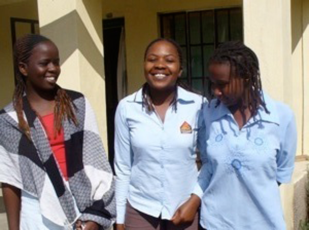 Every year, a number of BEADS-sponsored girls graduate from high school. Before receiving continued support in college, they spend one year working as BEADS interns. Pictured here are 2009 BEADS interns Ann, Diana, and Catherine.