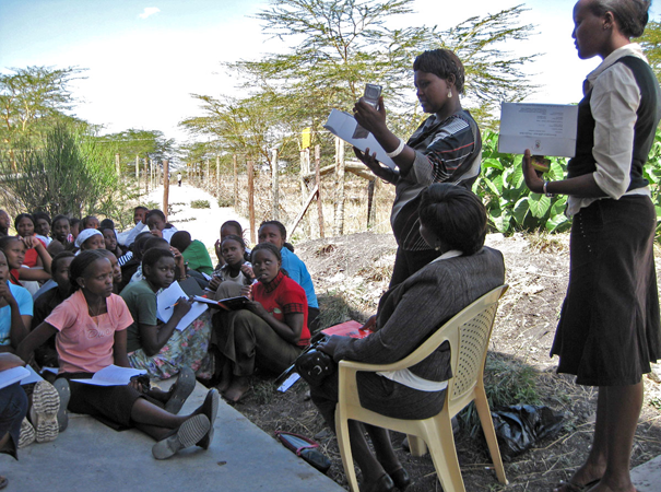 During term break, each girl develops her own volunteer project in her home region. Girls often teach HIV-AIDS awareness, work in the local clinic, provide adult literacy tutoring and more.