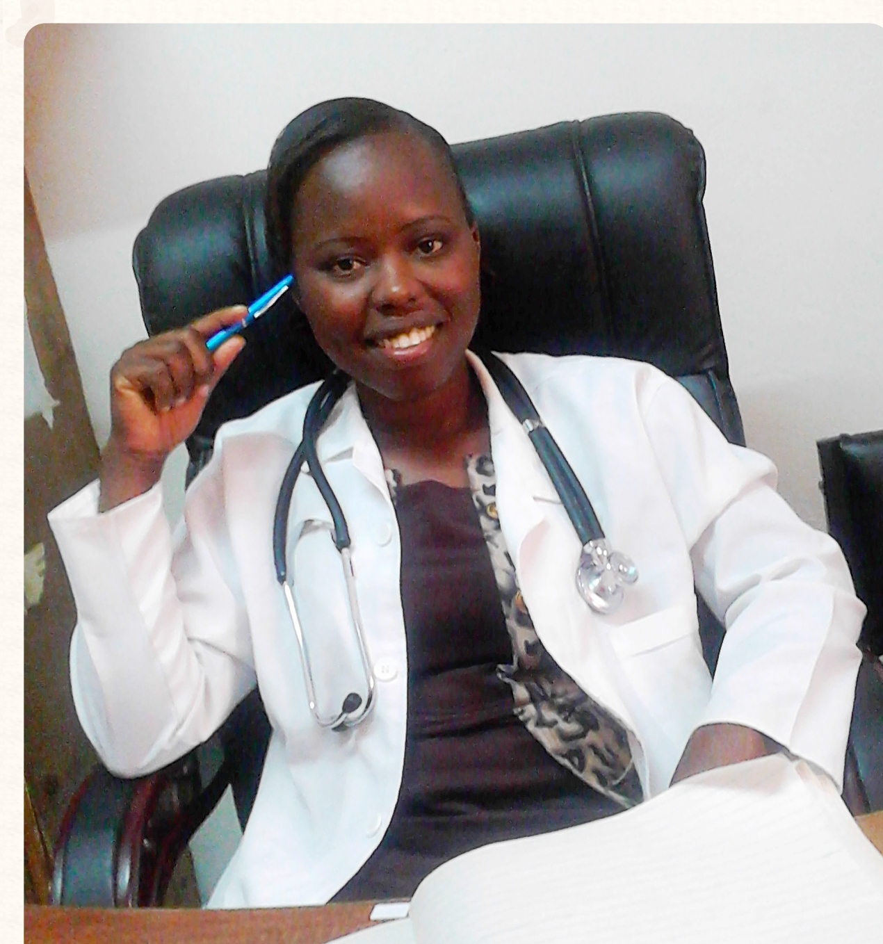 Sanaipei in her new role as Clinical Officer.