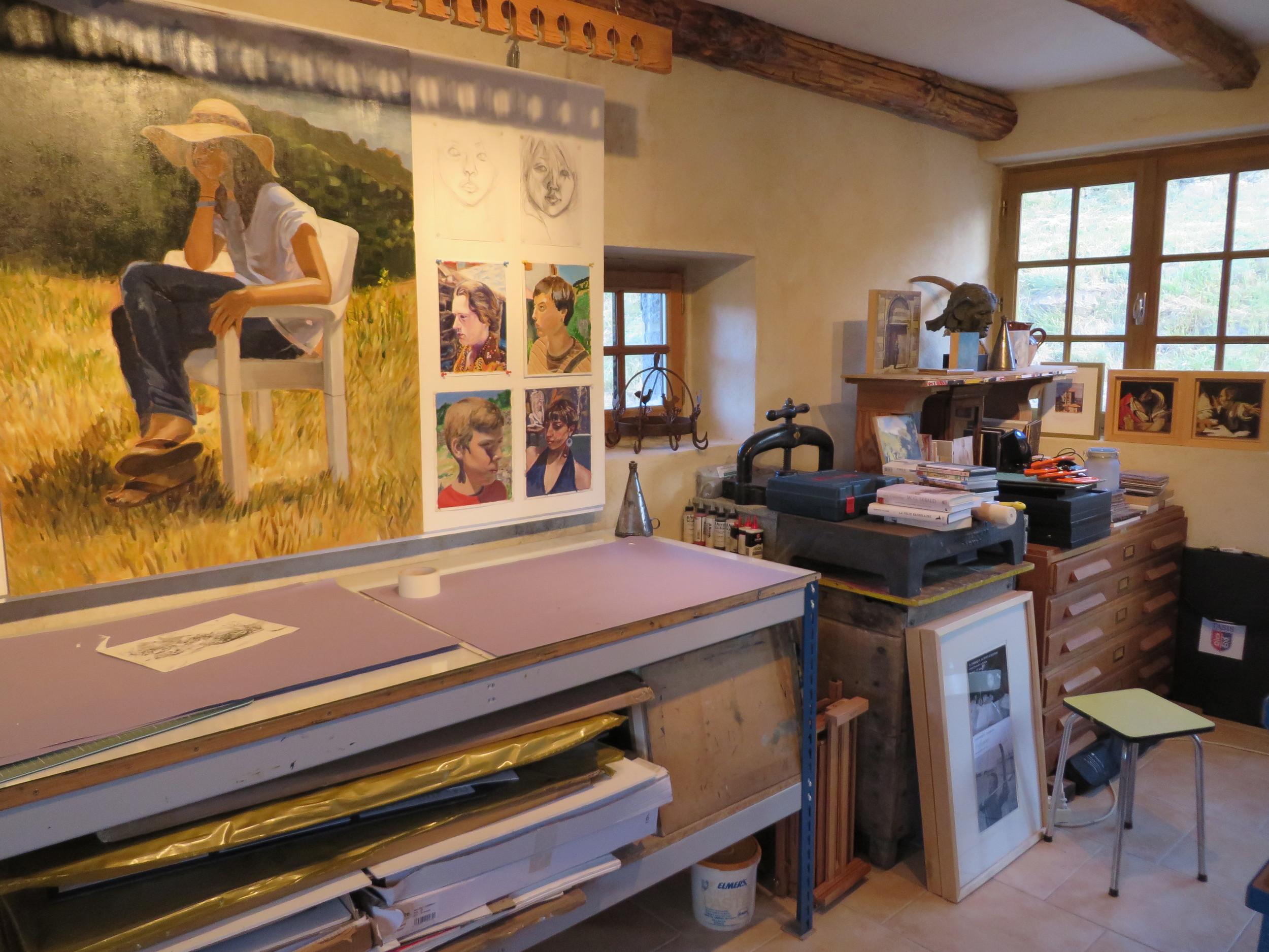 printmaking studios at les tapies summer programs