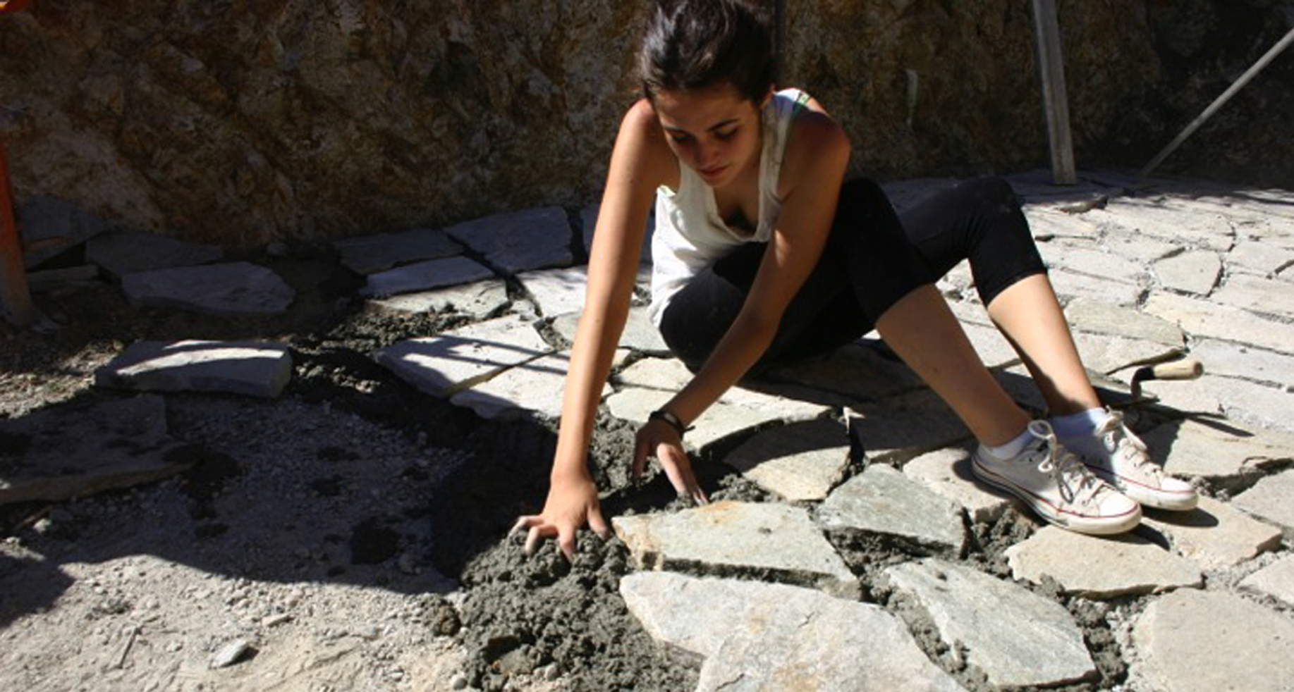 an architecture student working on a project les tapies summer programs in france