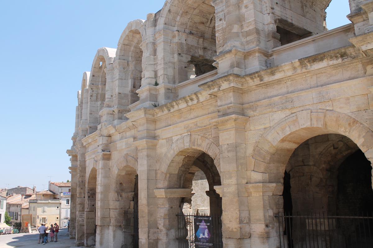 An ancient Roman ampitheater in Arles