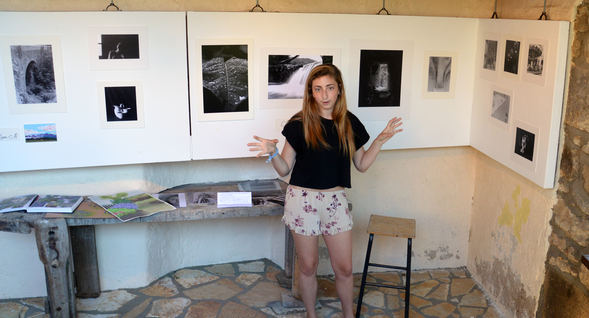 Students present their portfolio of work at the conclusion of the program
