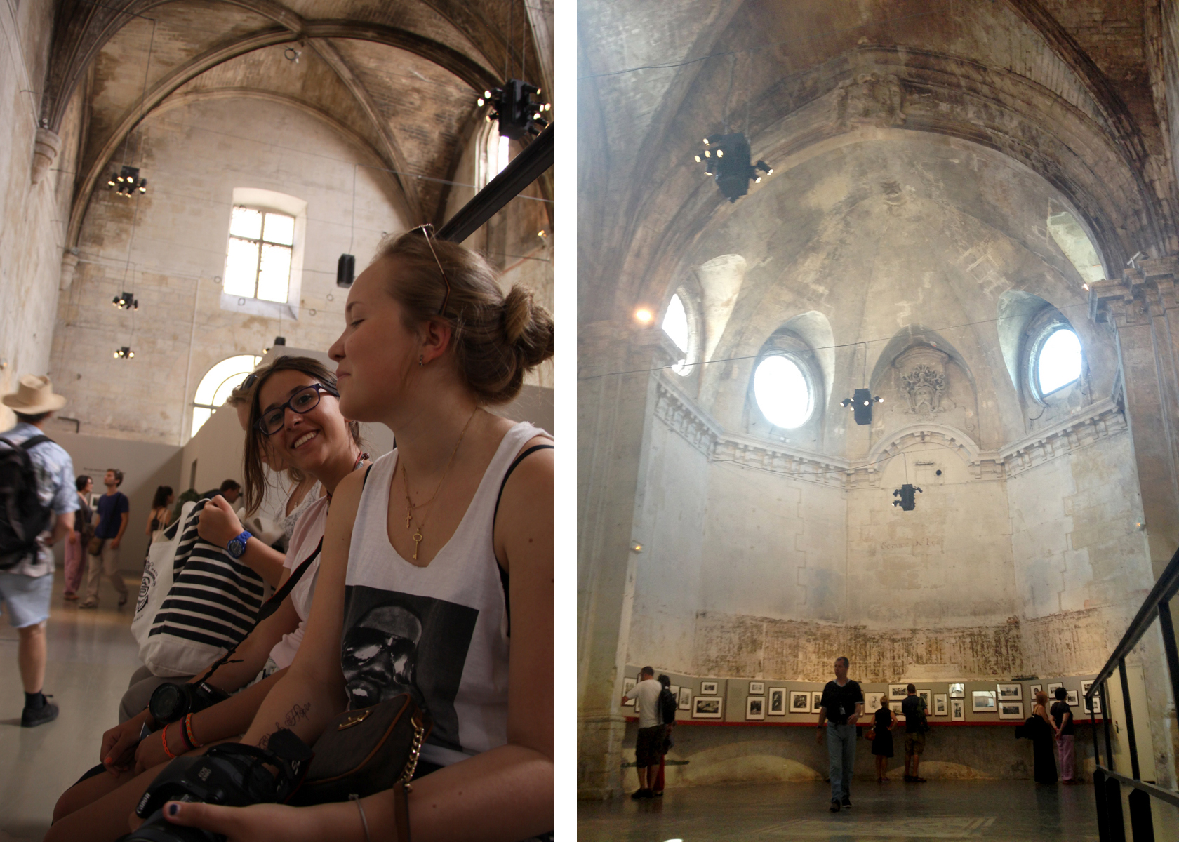 Exhibitions are spread across Arles, with many in incredible buildings such as this Medieval Cathedral
