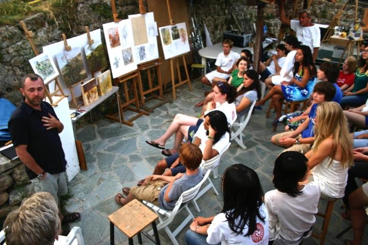 Visiting artist lecture at Les Tapies summer programs