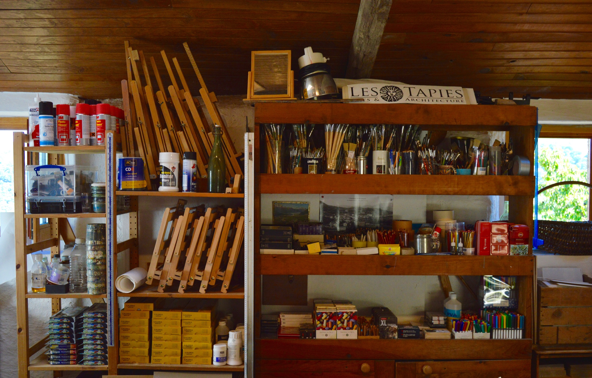 The shelves are stocked in Drawing and Painting.