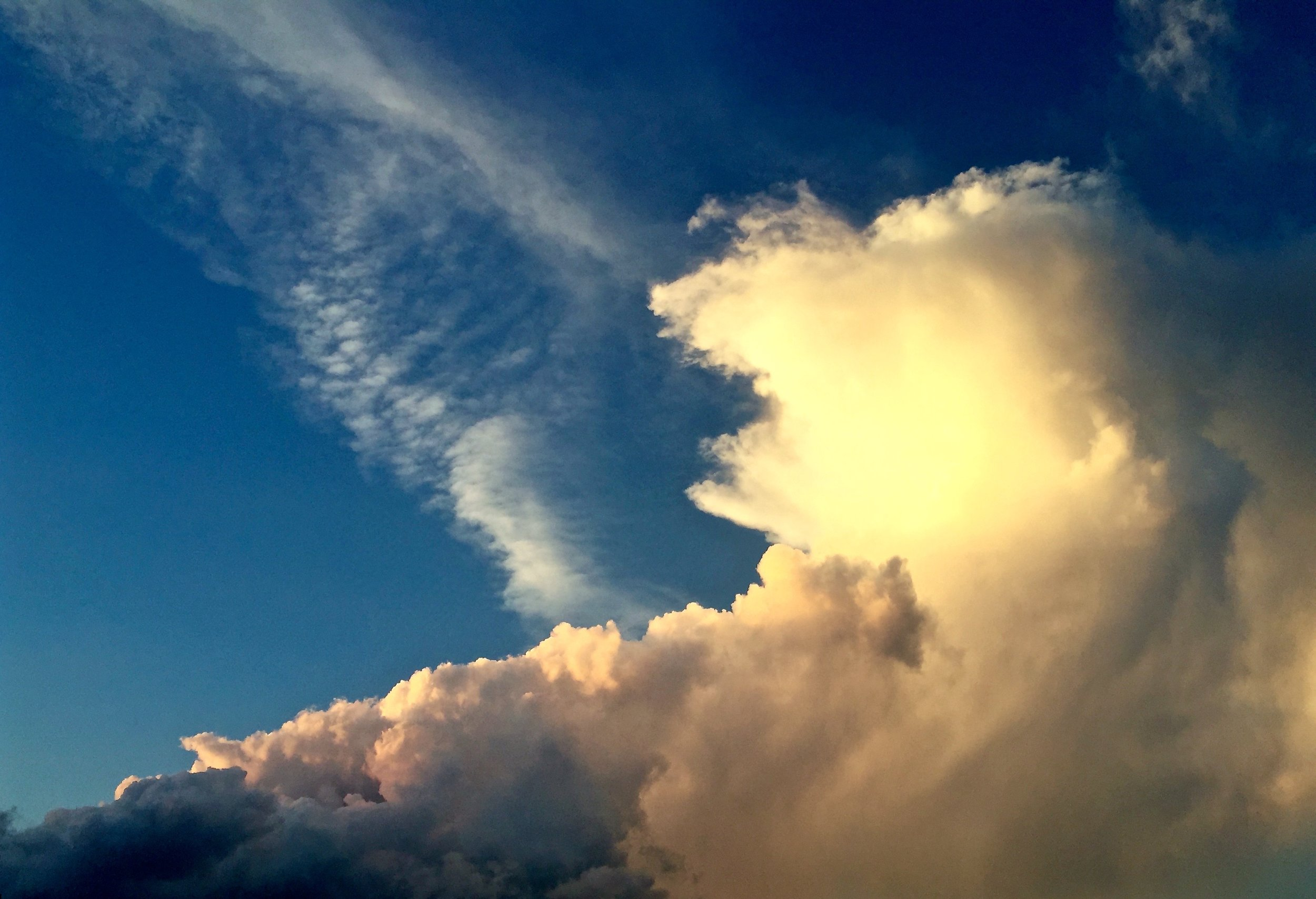 We were greeted by an awe-inspiring cloud display upon our arrival.