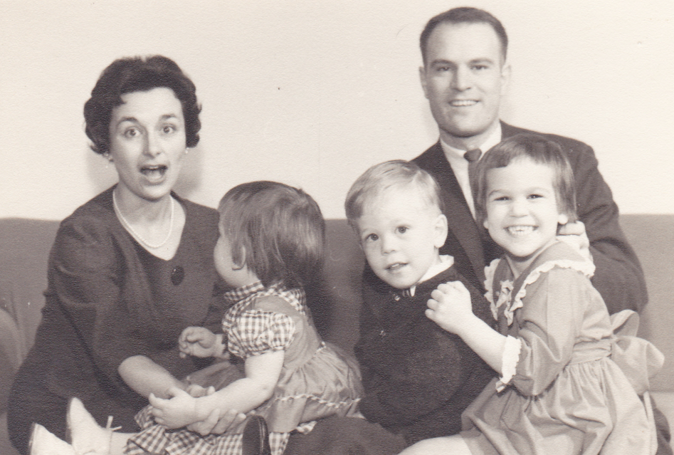 Mary and George with children Angela, Stephen and Kathryn, early 1960s.