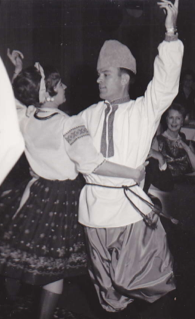 Dance partners, George and Mary Jo, circa 1963.