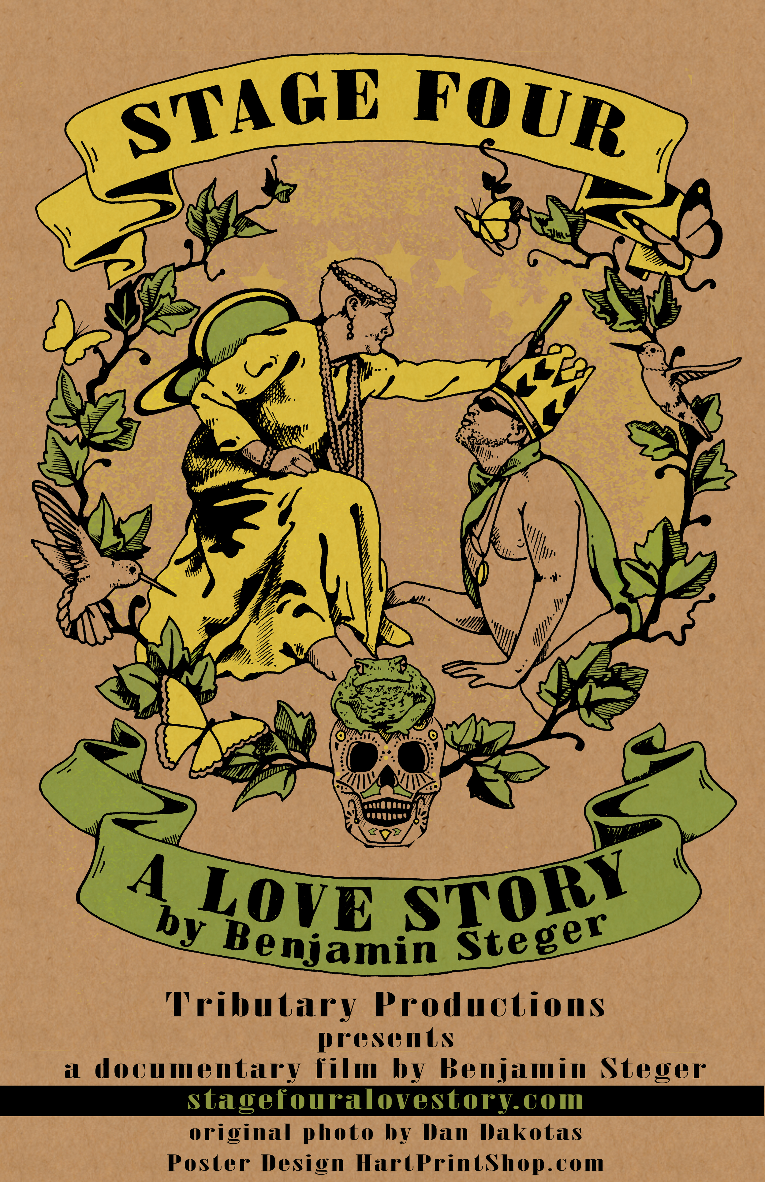 Stage Four: A Love Story poster, by Sarah Hart.