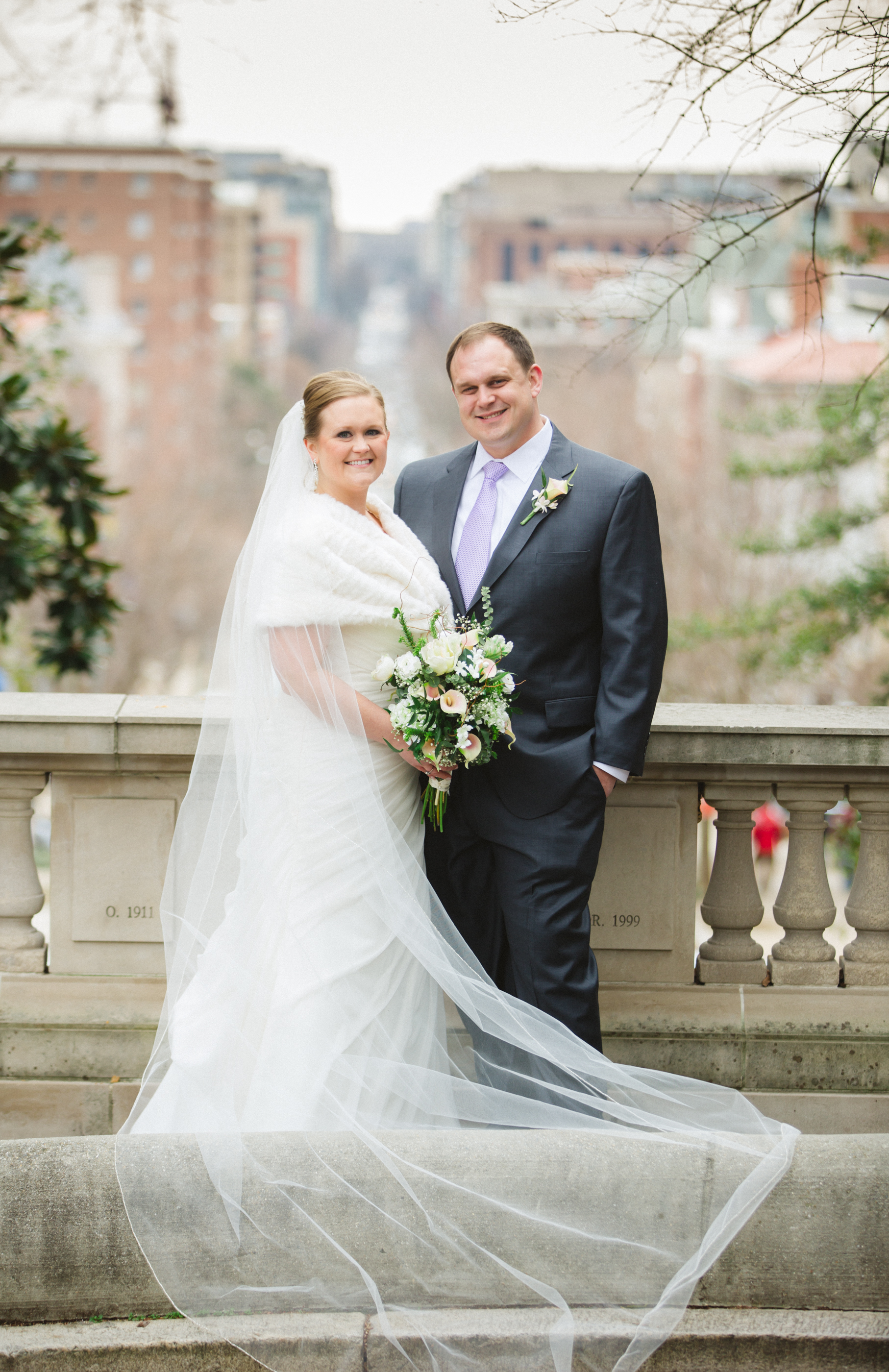 spanish steps Washington DC wedding photos