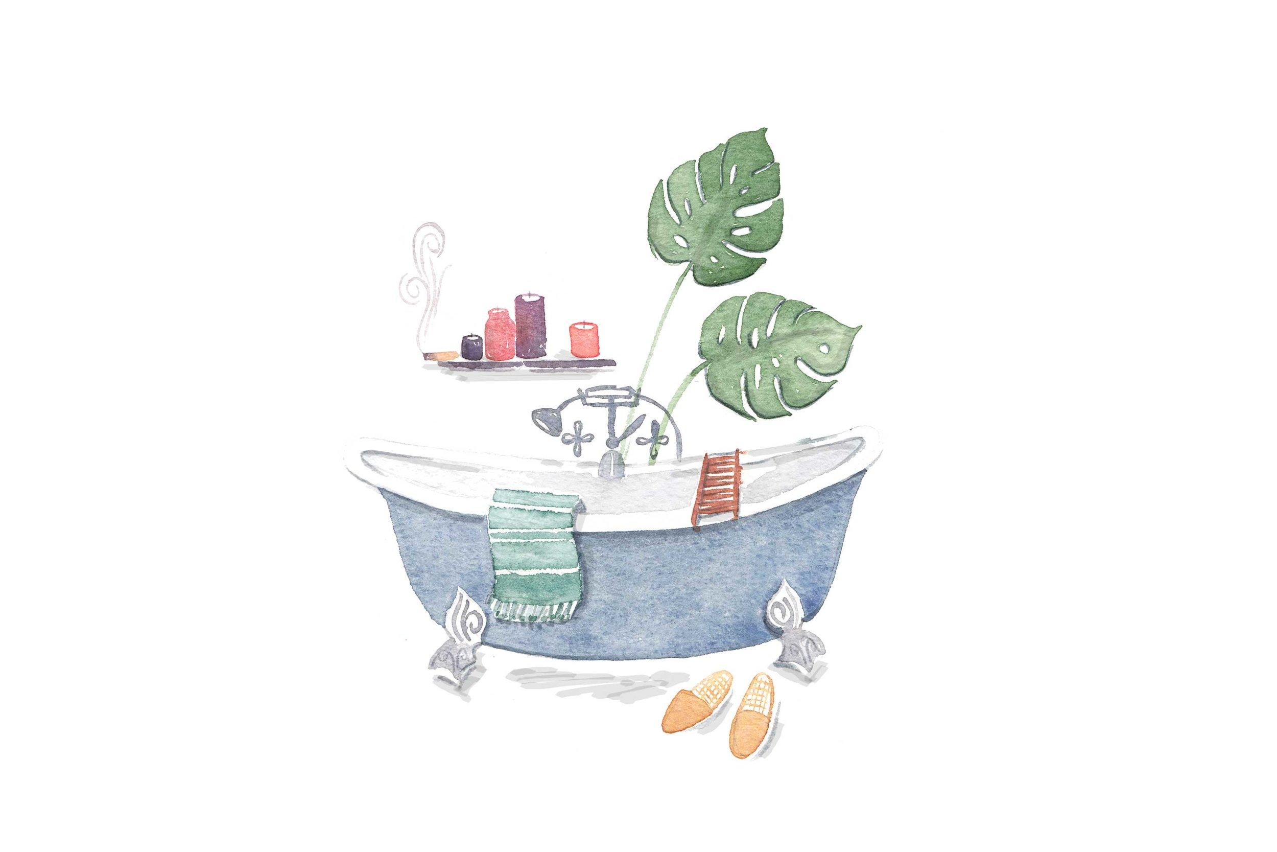 erin-ellis_lifestyle_watercolor_illustrations_bathtub_scene_well+good.jpg