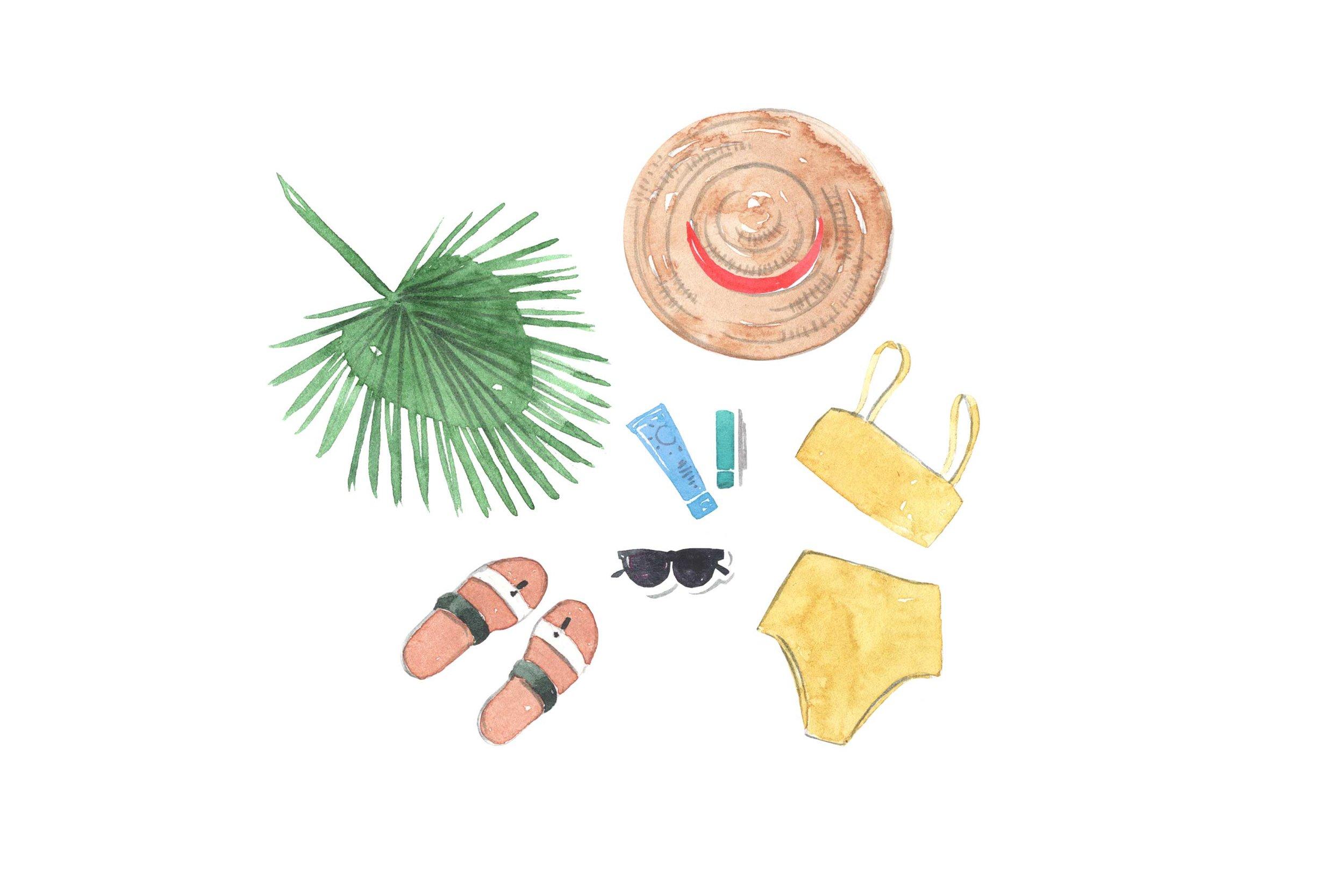 erin-ellis_lifestyle_watercolor_illustrations_travel_flatlay_well+good.jpg