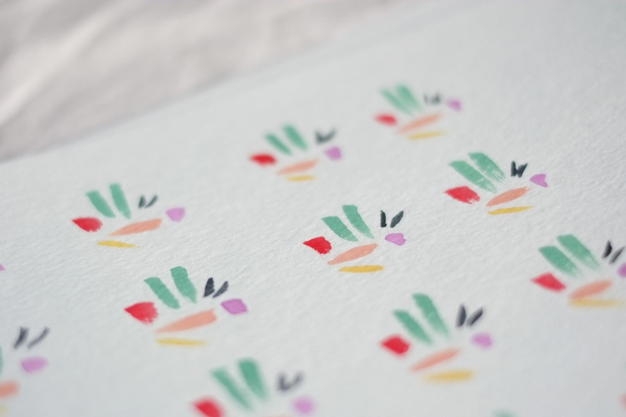 """Lovebird Birthday Party"". abstract watercolor pattern"