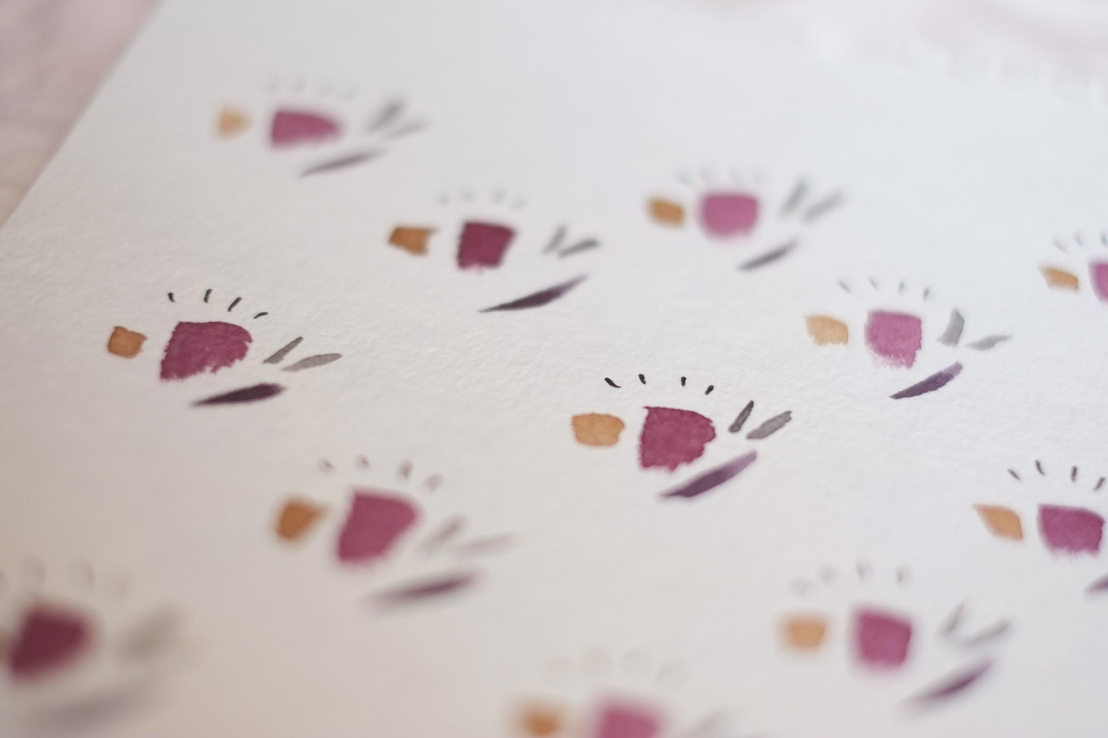 """Crocus Toast"" Abstract watercolor pattern"