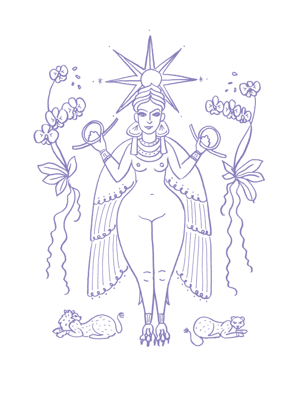 Deities_illustrations_Inanna_erin-ellis.png