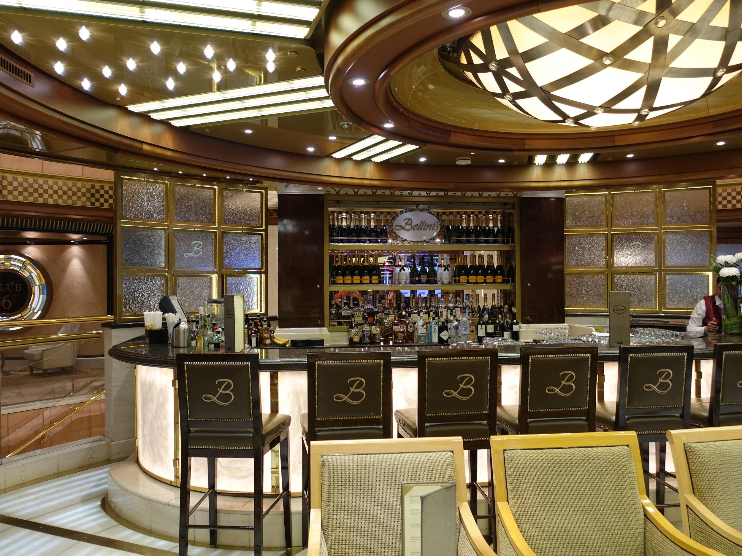 The beautiful Bellini's bar