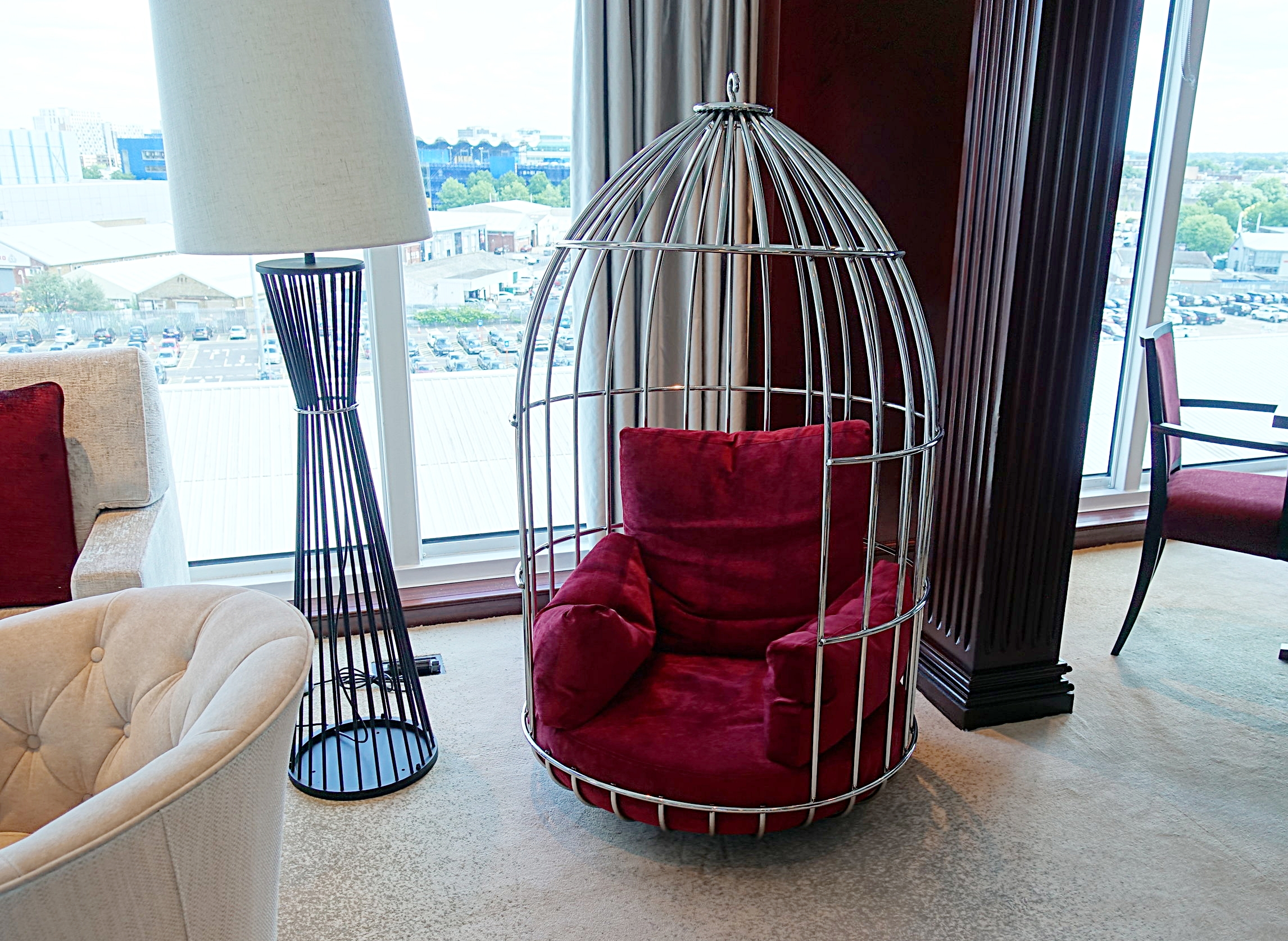 We loved these hanging chairs in the Living Room.