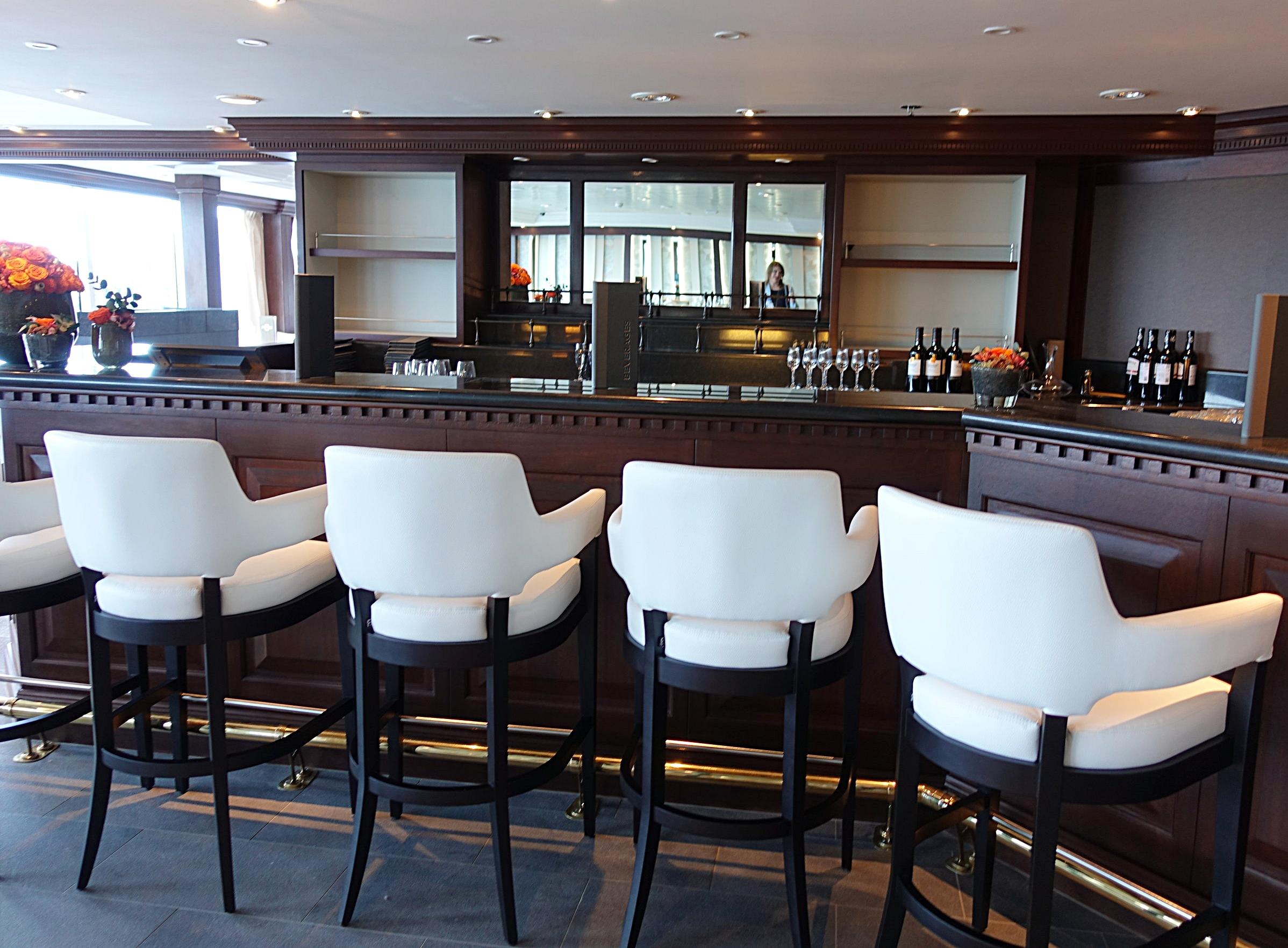 The bar area in Prime C restaurant.