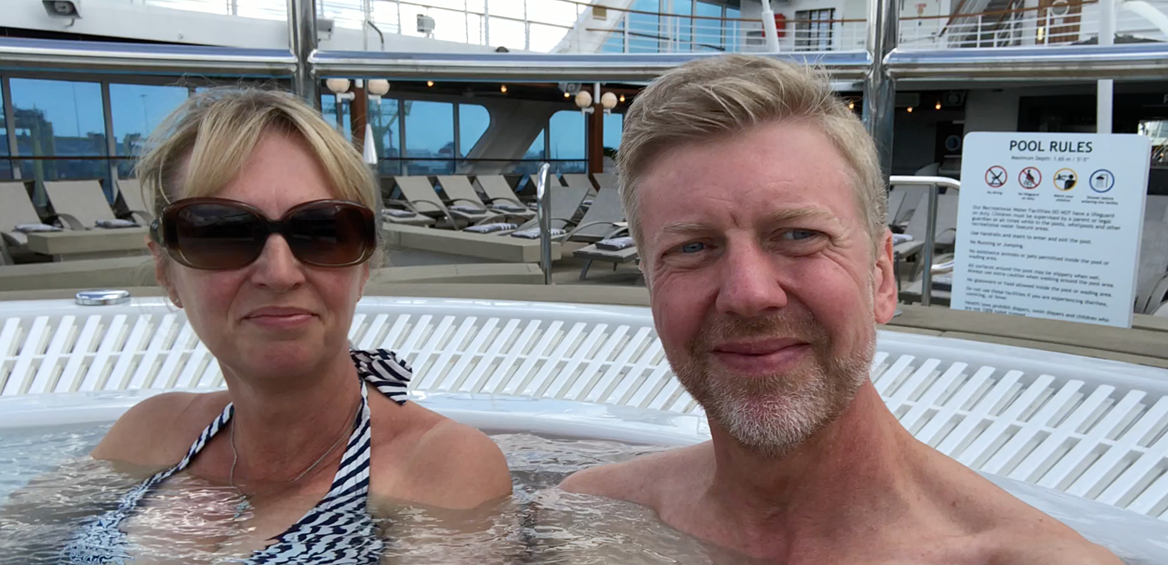 We braved the jacuzzi!