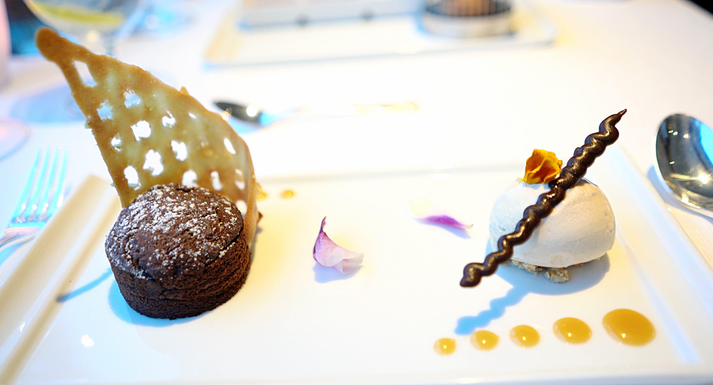 The chocolate fondant in Prime C.