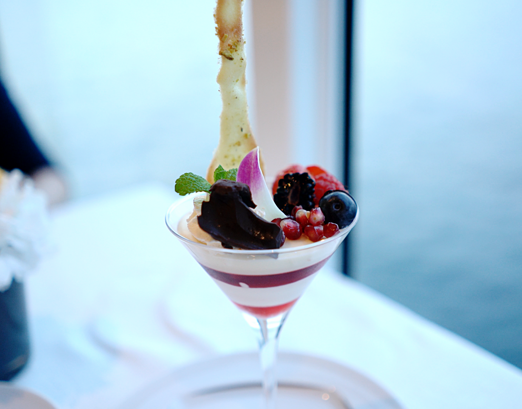 The delicious and beautiful passionfruit panna cotta.