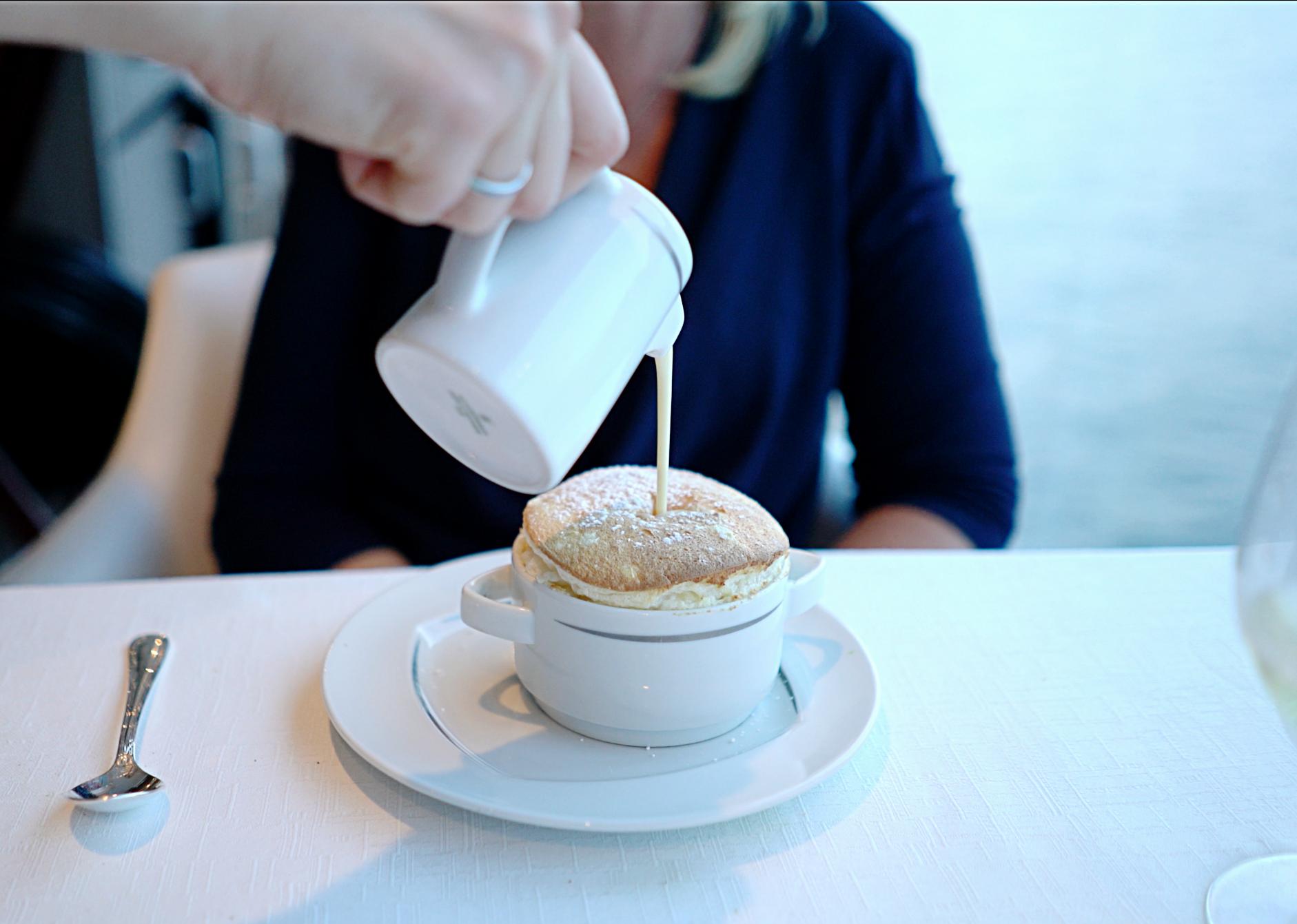 No words to describe this limoncello soufflé.