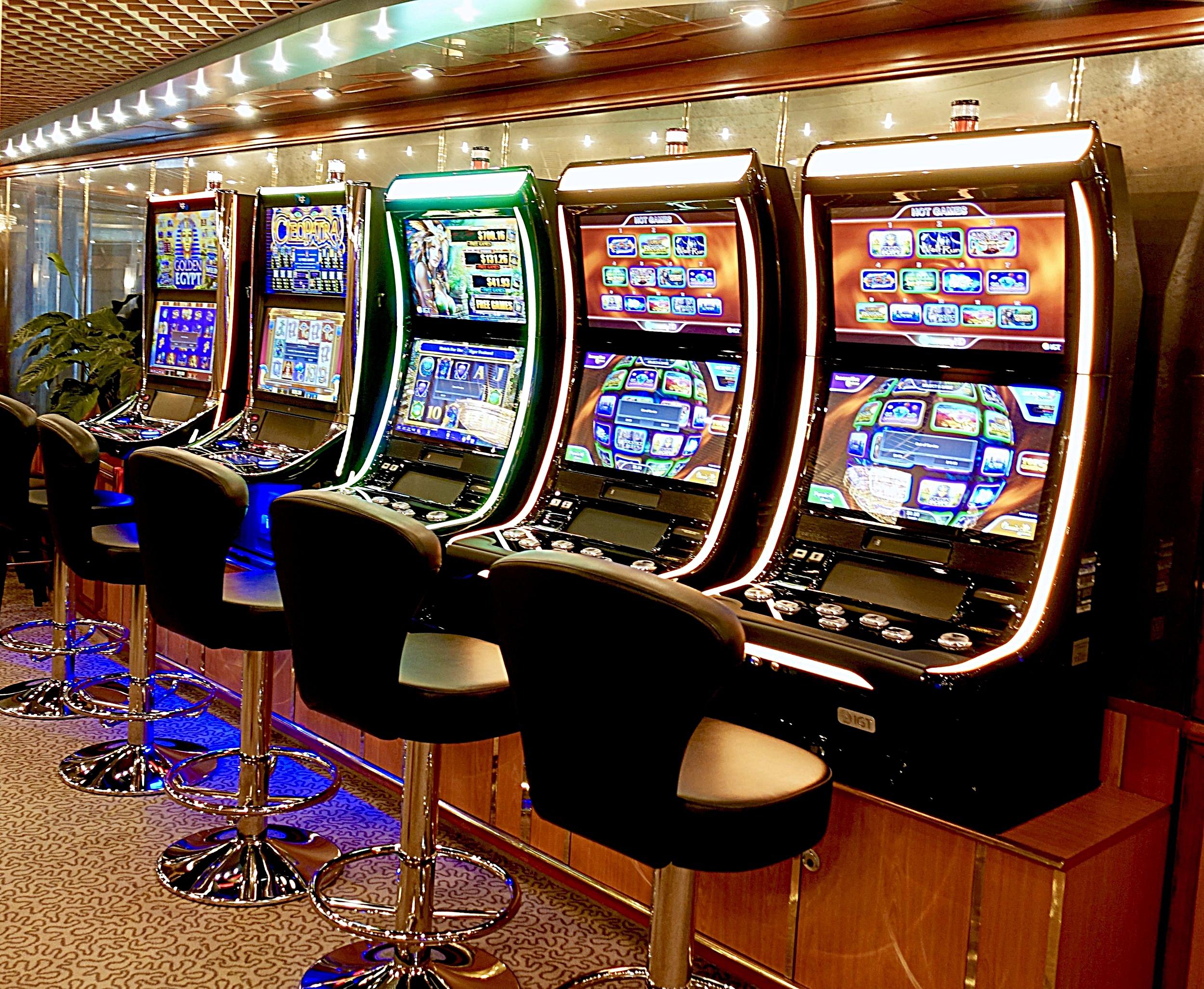 The casino slot machines.