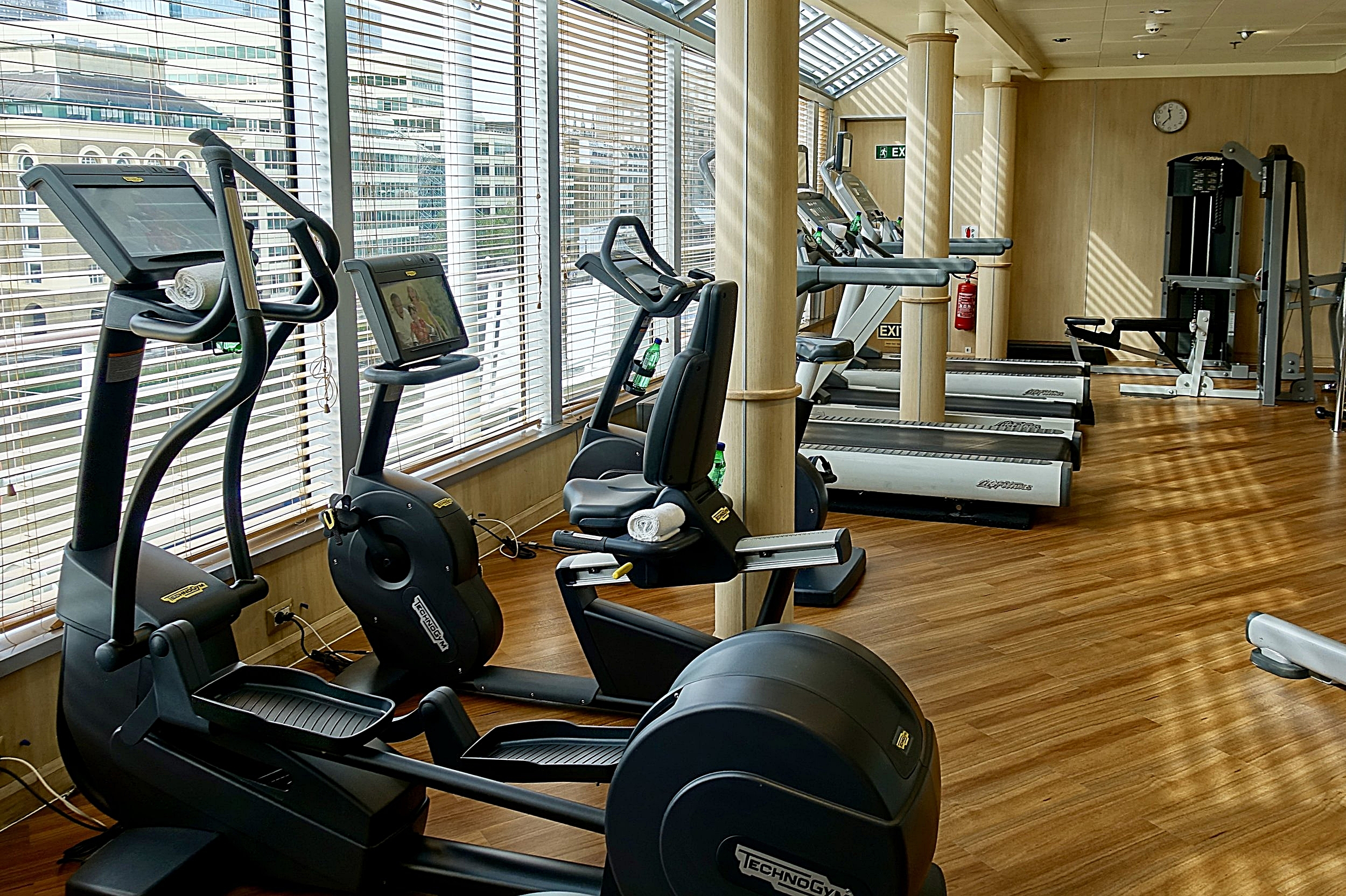 The well equipped gym.