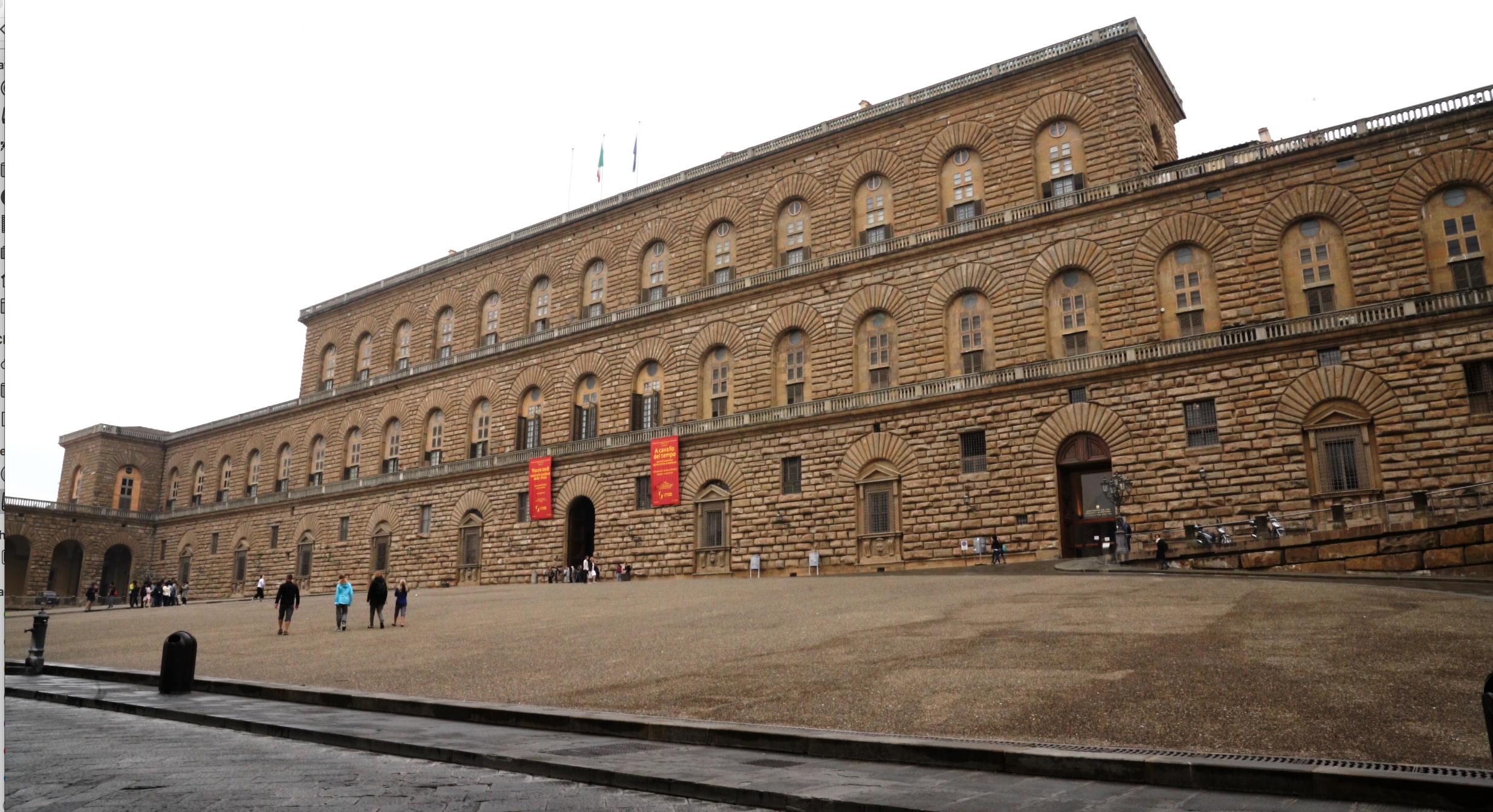 The Palazzo Pitti.