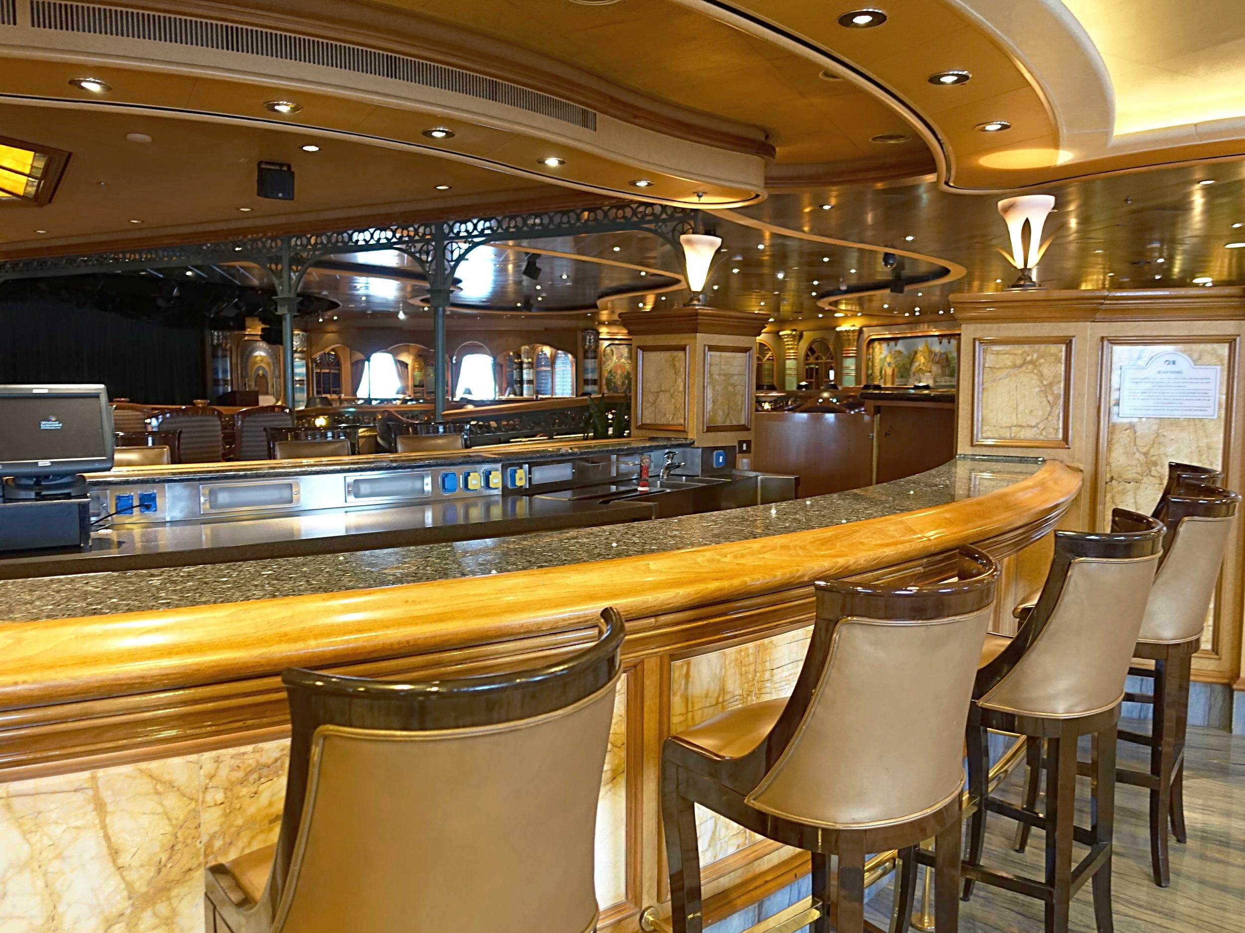 The Explorers Lounge bar.