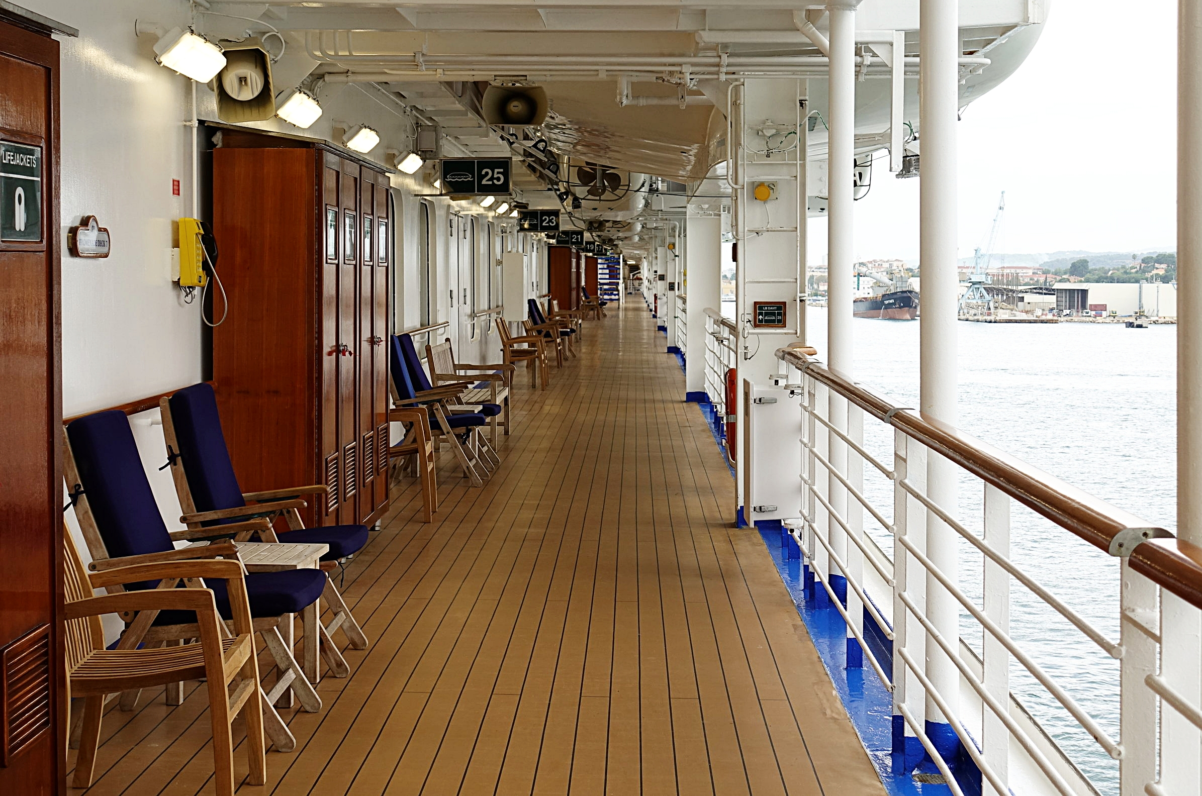 We love a traditional promenade deck that allows you to walk all the way round the ship.