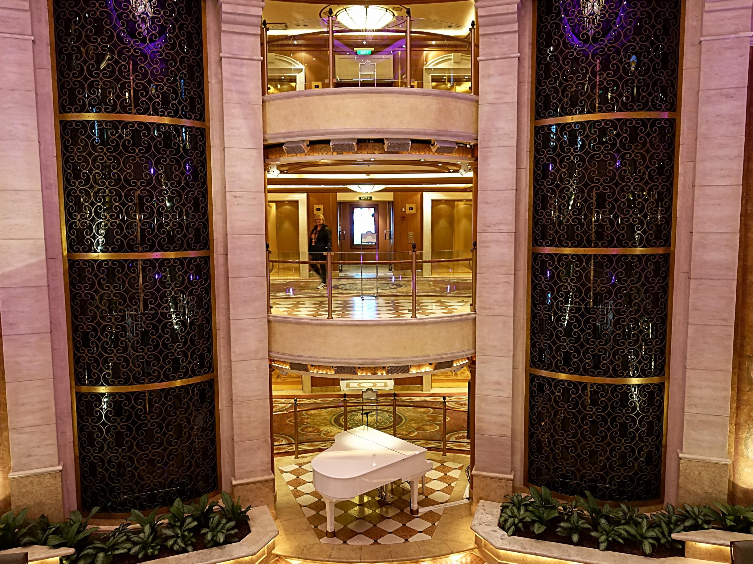 The main atrium and elevators.