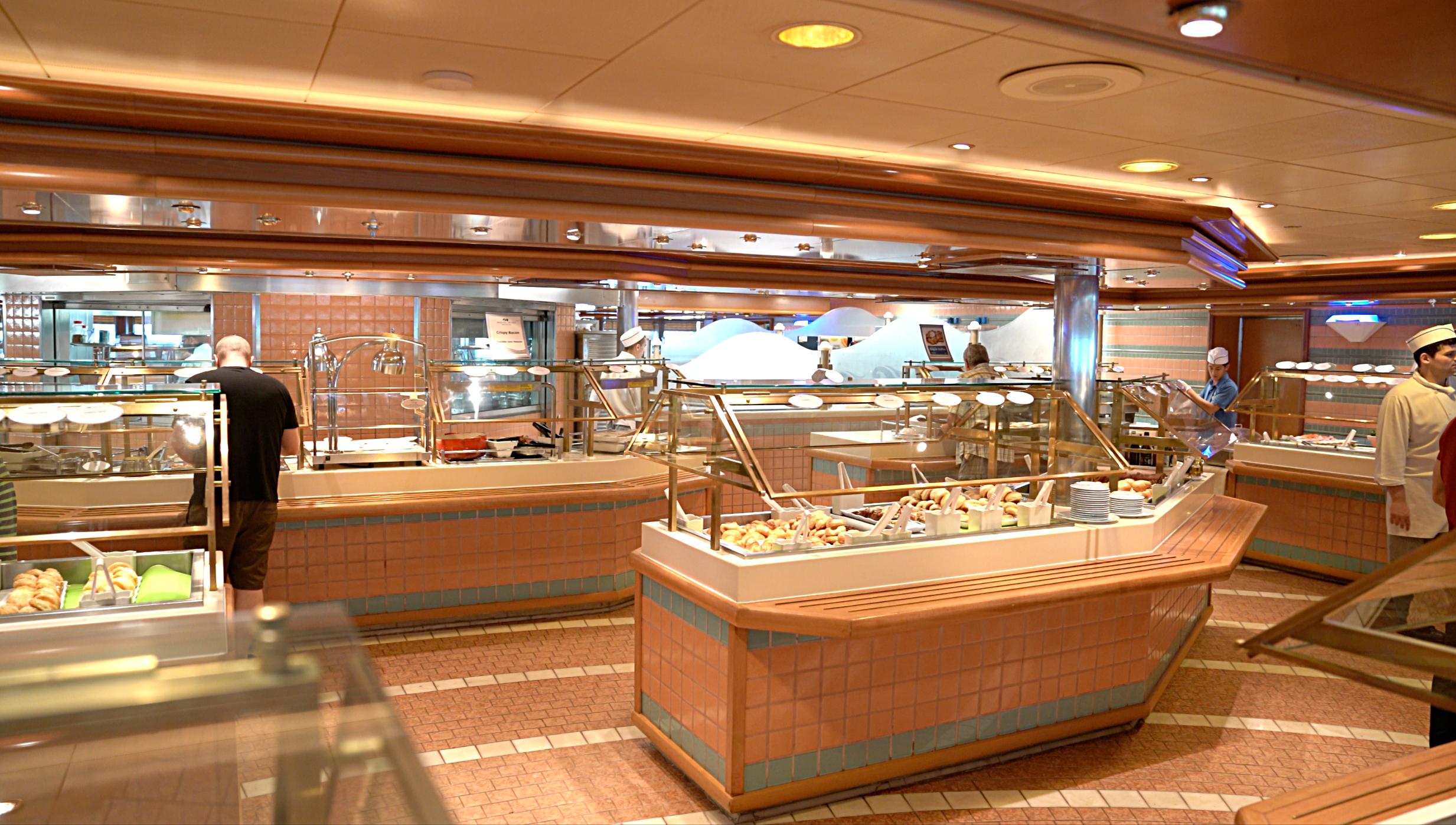 The Horizon Court buffet.