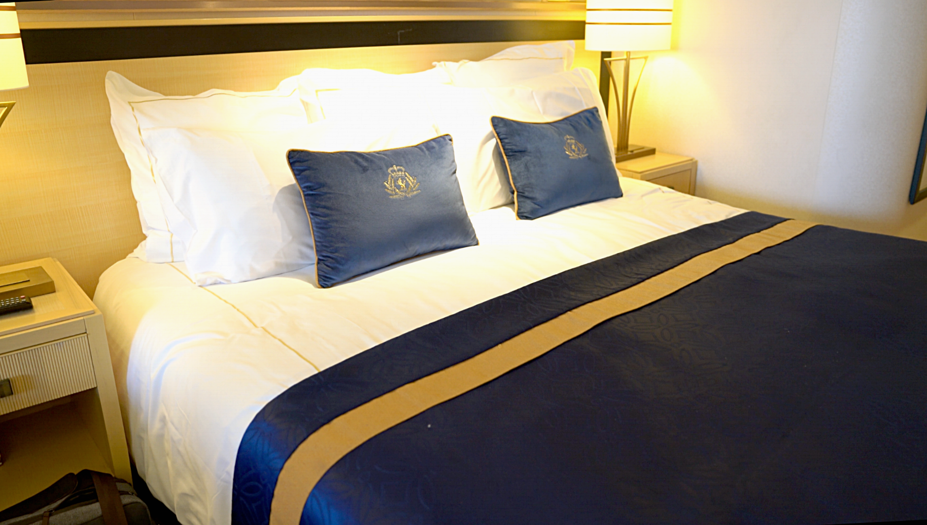 The bed really is as luxurious and comfortable as it looks here.