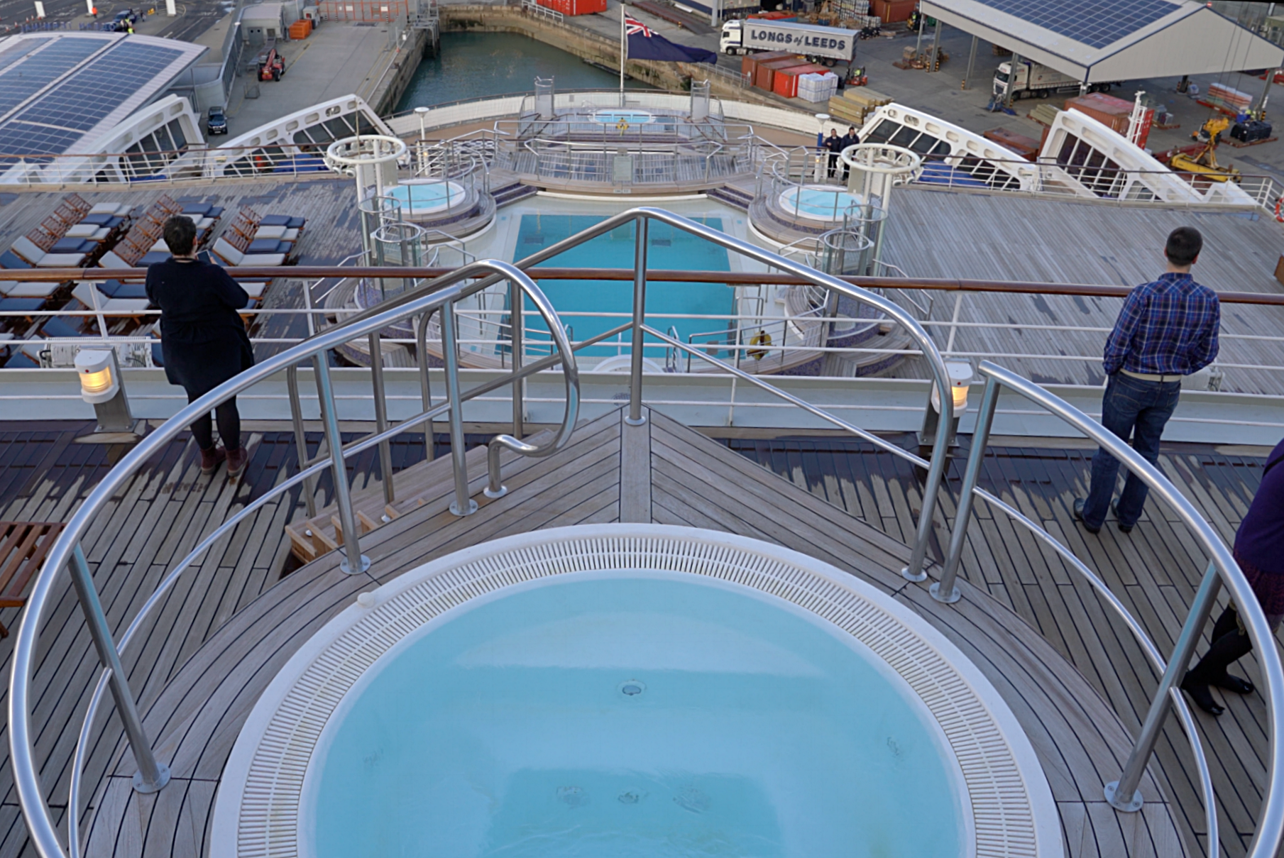 The aft outside pools and sun decks.