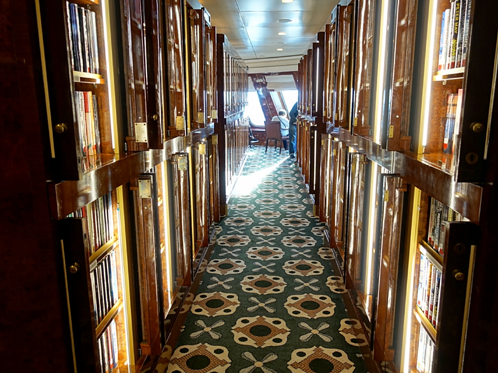 The extensive library.
