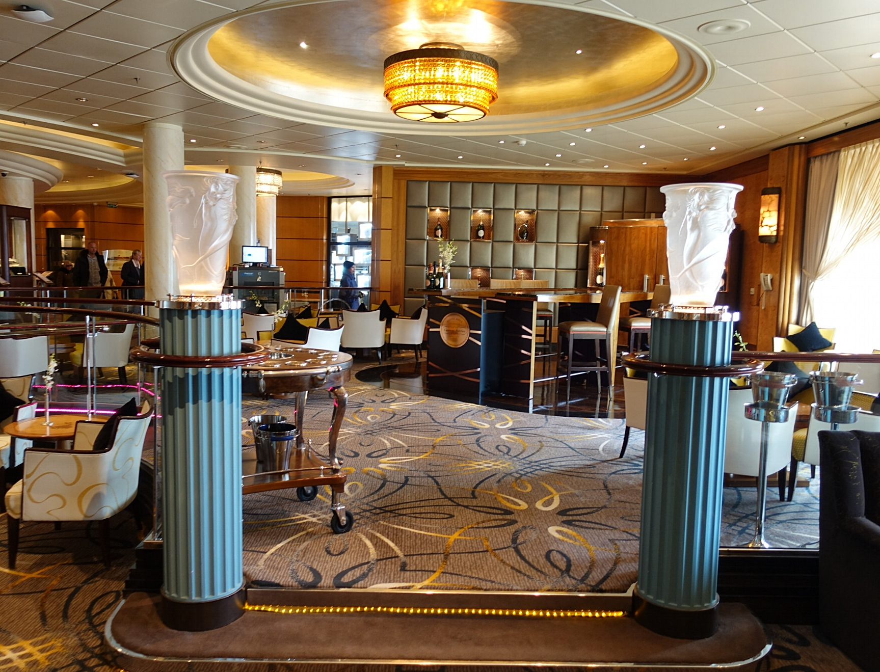 Just off of the Chart Room is the gorgeous Champagne bar.