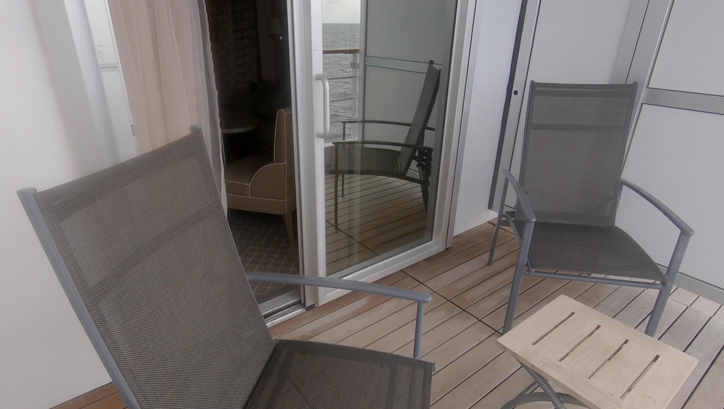 The balcony door.