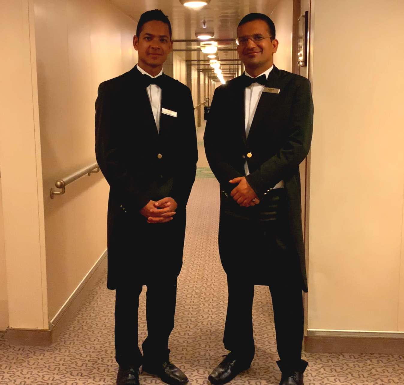 The immaculately turned out Butlers.