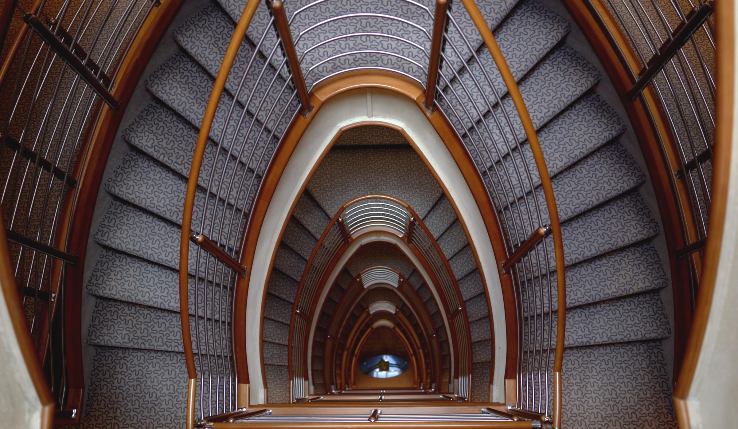 The main atrium staircase.