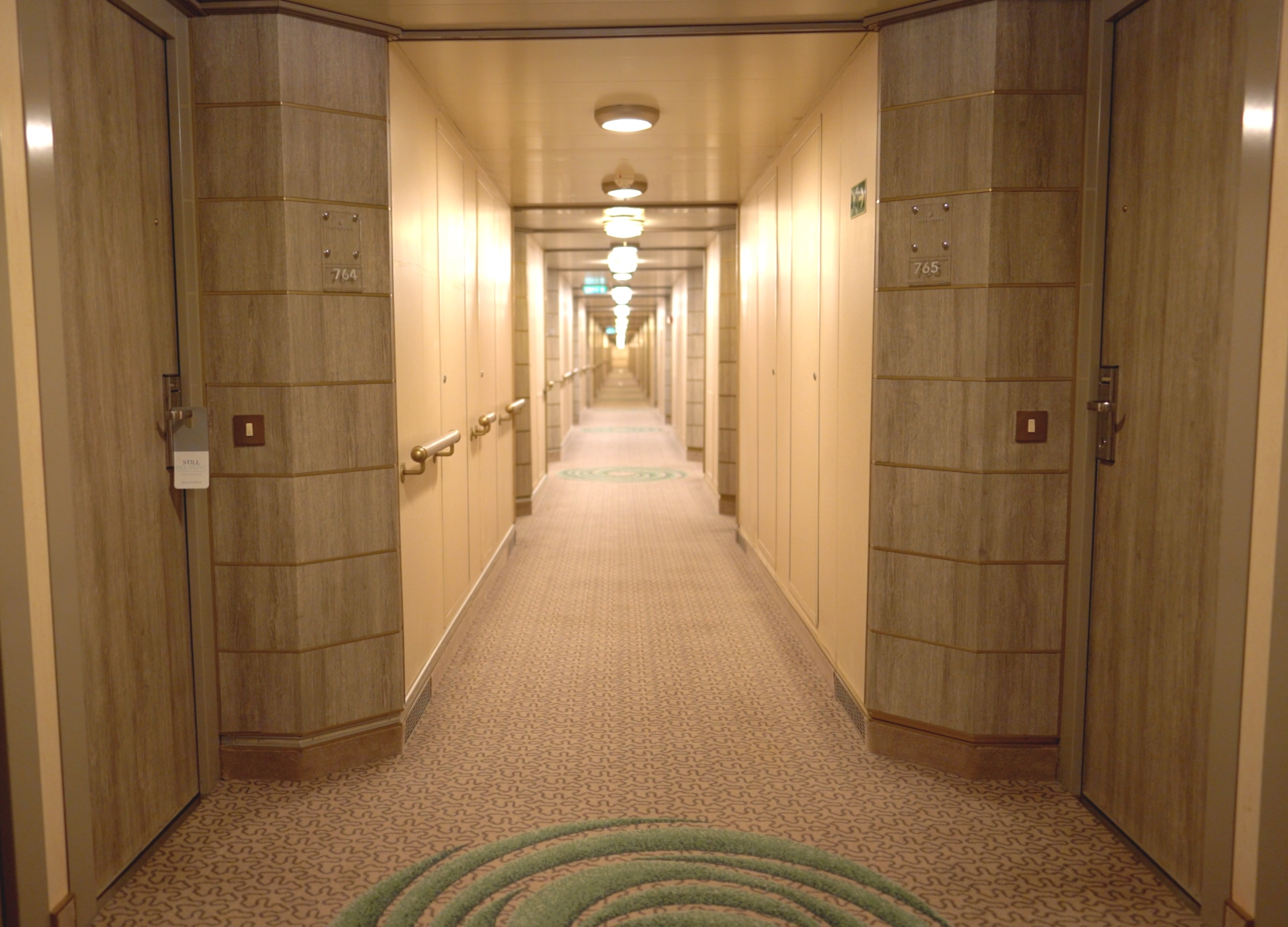 Our suite was almost at the end of this long corridor.