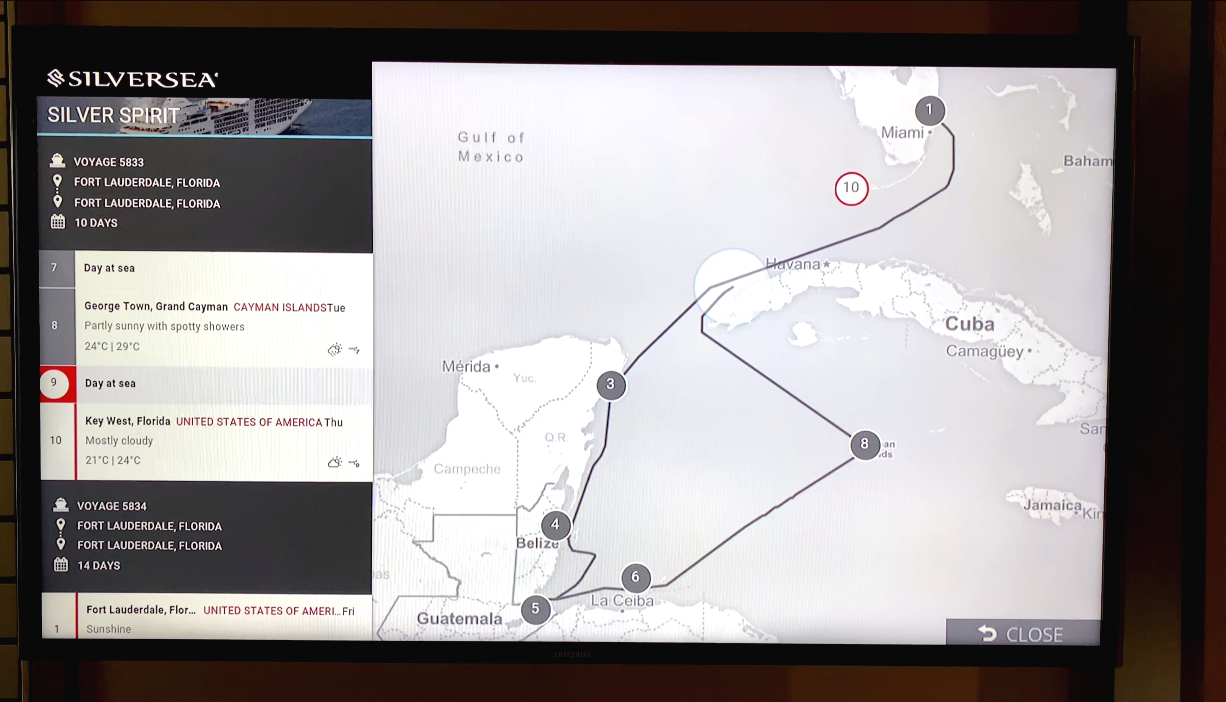 TV voyage route page.