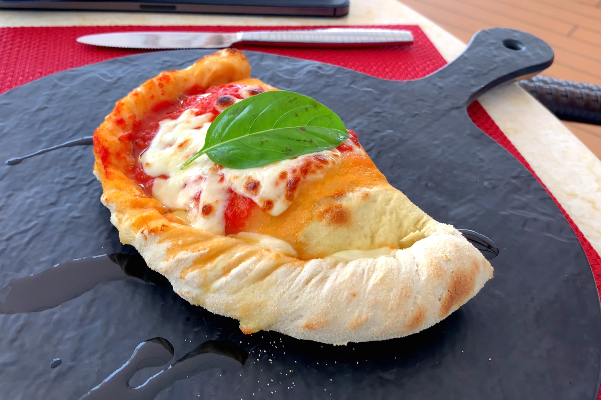 Traditional calzone.