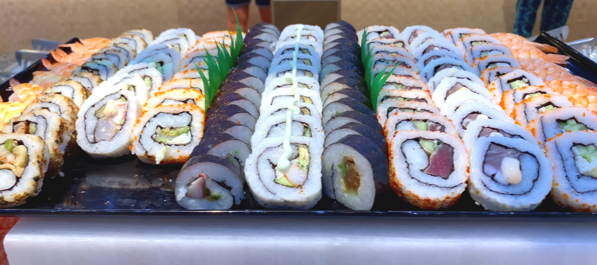 Lunchtime sushi.