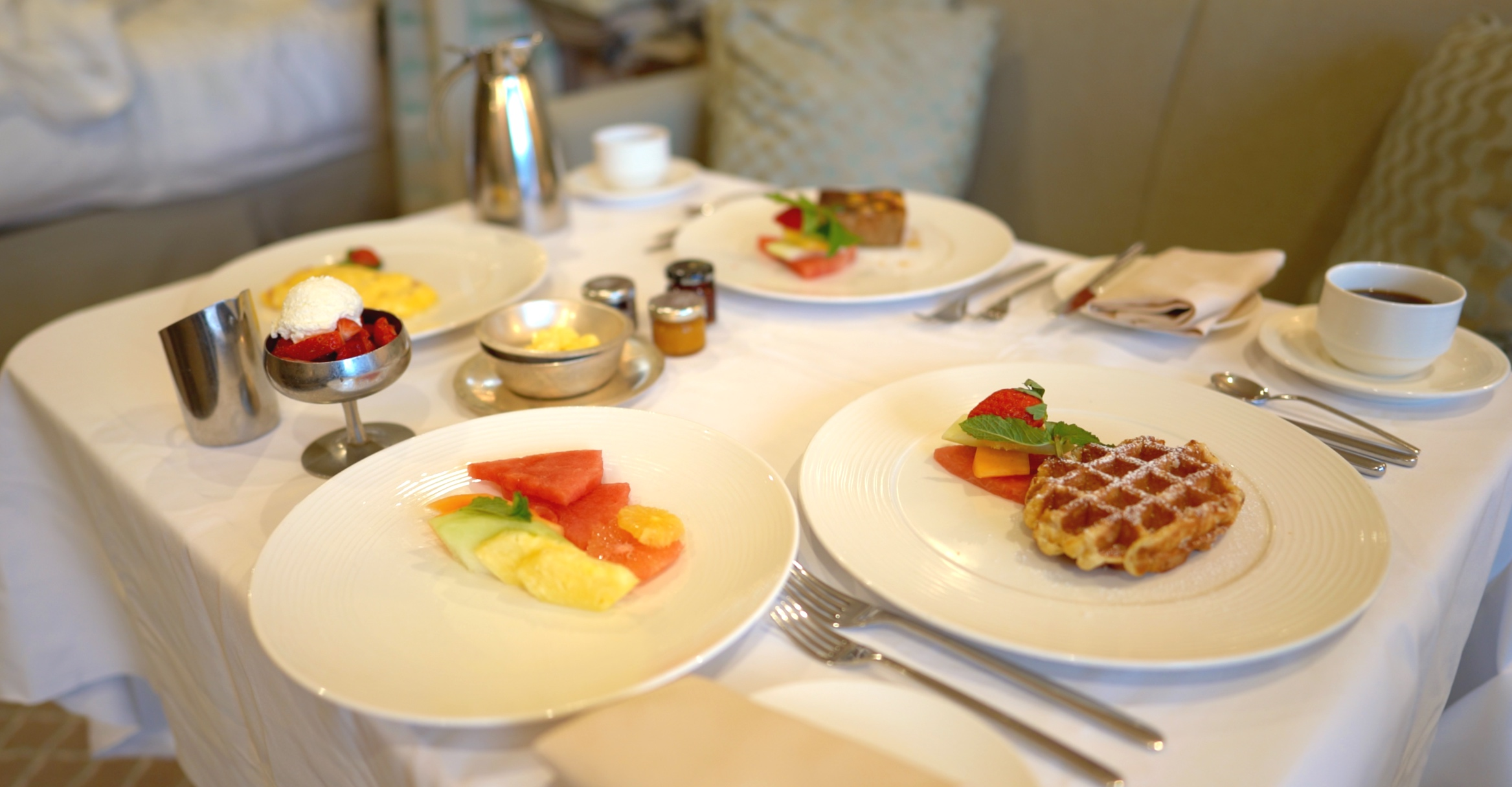 Our delicious in-suite breakfast.
