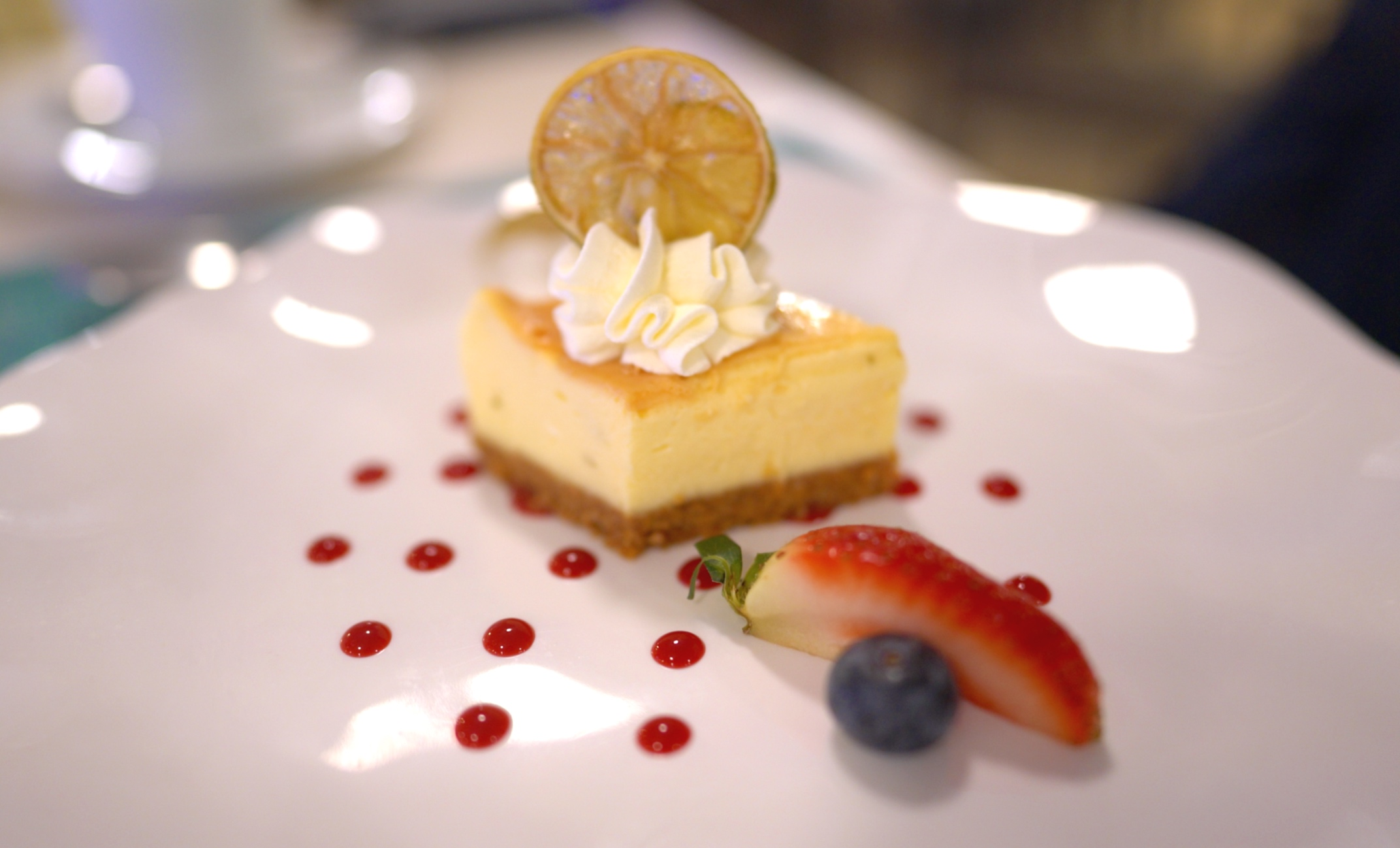Delicious New York cheesecake.