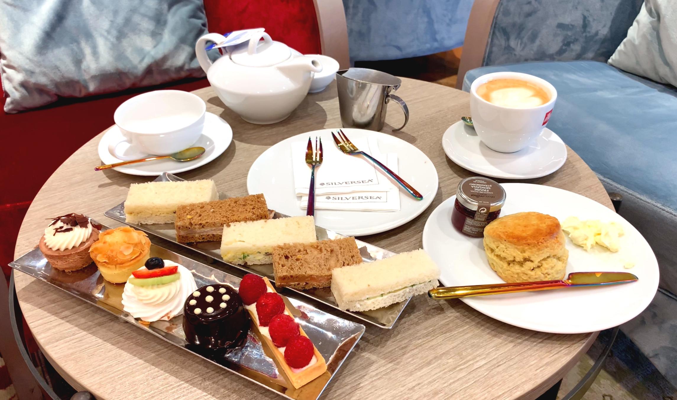 Afternoon tea decadence.
